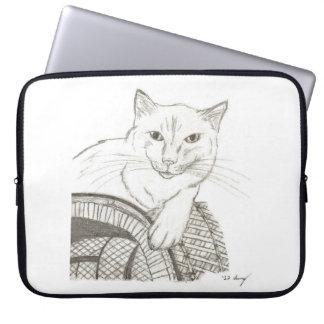 Cat Ragdoll Portrait Laptop Sleeve