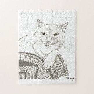 Cat Ragdoll Portrait Puzzle