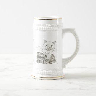 Cat Ragdoll Portrait Stein Mugs