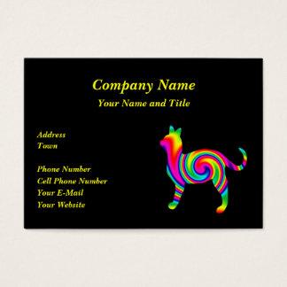 Cat Rainbow Twist Business Card