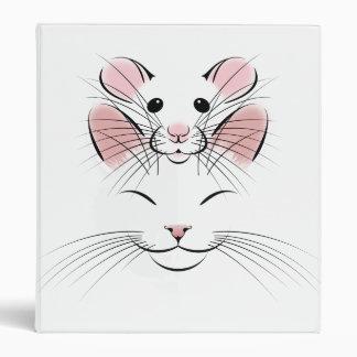 Cat Rat happy line art binder KMCoriginals