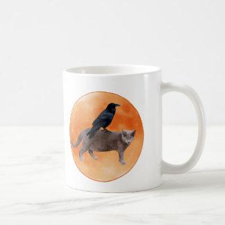 Cat Raven Moon Mug