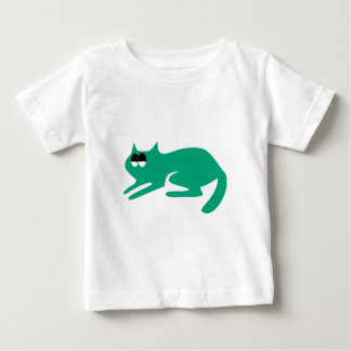 Cat Ready To Pounce Green Satisfied Smug Eyes T-shirt