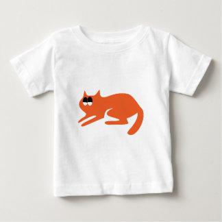 Cat Ready To Pounce Orange Satisfied Smug Eyes Tee Shirts
