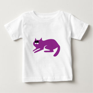 Cat Ready To Pounce Purple Satisfied Smug Eyes T-shirt