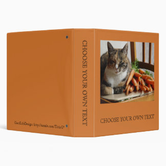 Cat 'Red' with Carrots 3 Ring Binder