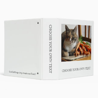 Cat 'Red' with Carrots Binder