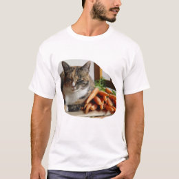 Cat 'Red' with Carrots T-Shirt