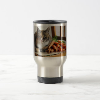 Cat 'Red' with Carrots Travel Mug