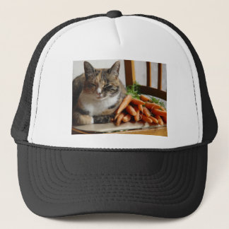 Cat 'Red' with Carrots Trucker Hat