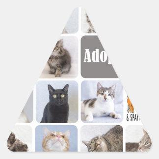 Cat Rescue Fort Collins Cat Rescue Triangle Sticker