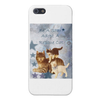 Cat Rescue Humane Adopt Adoption Star Cover For iPhone SE/5/5s