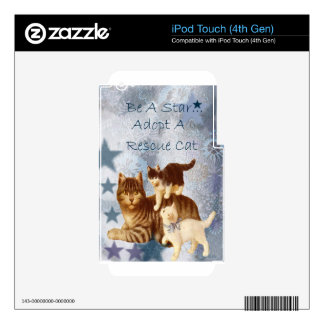 Cat Rescue Humane Adopt Adoption Star Skins For iPod Touch 4G