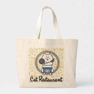 Cat Restaurant bitsugutoto Large Tote Bag