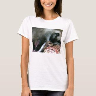 Cat Resting On Cookbook Women's Shirt