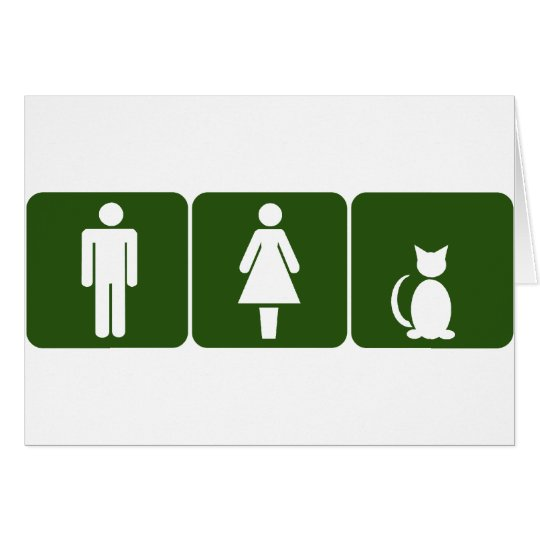 Cat Restroom Card