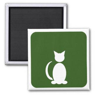 Cat Restroom 2 Inch Square Magnet