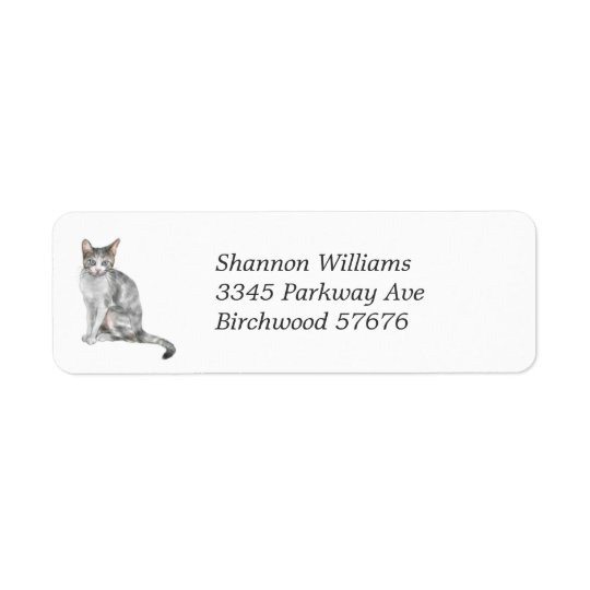 Cat Return Address Label