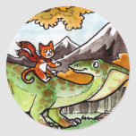 Cat Rides a Dinosaur Stickers