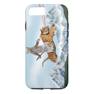 Cat Riding A Tiger iPhone 8/7 Case