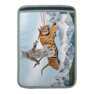 Cat Riding A Tiger MacBook Air Sleeve