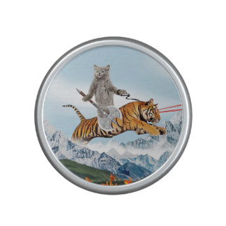 Cat Riding A Tiger Speaker