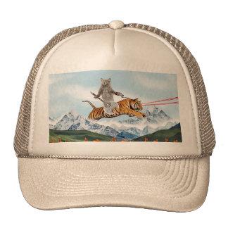 Cat Riding A Tiger Trucker Hat