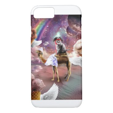 Cat Riding Camel With Flying Space Ice Cream iPhone 8/7 Case