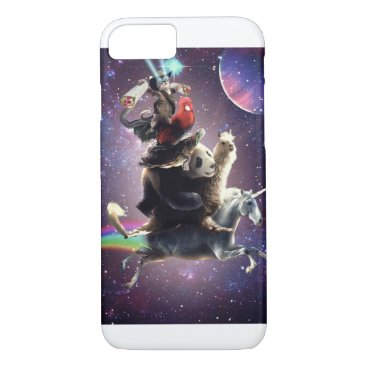 Cat Riding Chicken Turtle Panda Llama Unicorn iPhone 8/7 Case