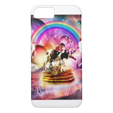 Cat Riding Cow With Pancakes And Milkshake iPhone 8/7 Case
