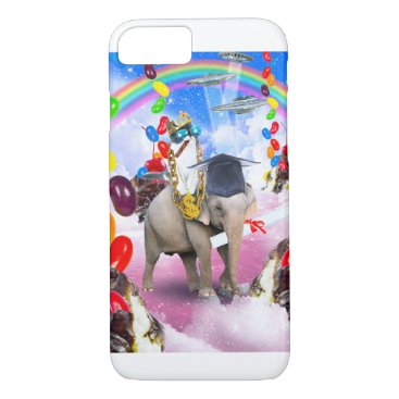 Cat Riding Elephant With Sundae And Jelly Beans iPhone 8/7 Case
