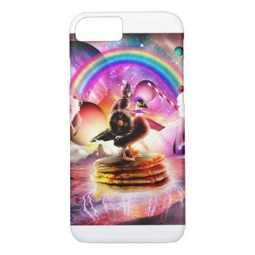 Cat Riding Goose With Pancakes And Milkshake iPhone 8/7 Case