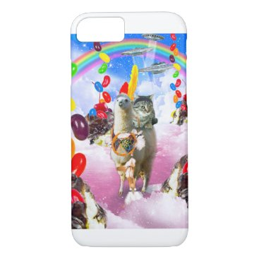 Cat Riding Llama With Sundae And Jelly Beans iPhone 8/7 Case