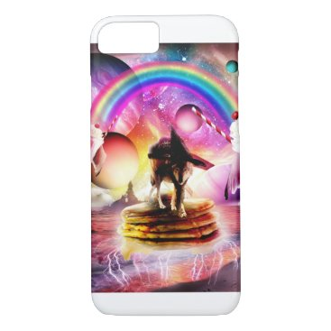 Cat Riding Wolf With Pancakes And Milkshake iPhone 8/7 Case