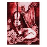 CAT, rojo y blanco MUSICALES Postal