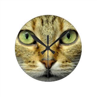 Cat Round Clock