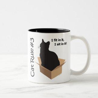 Cat Rule #3 Mugs