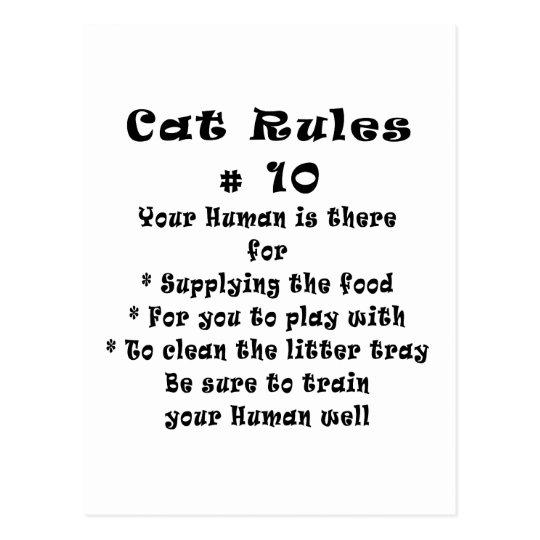 Cat Rules Number 10 Postcard