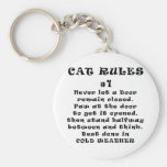 Cat Rules Number 1 Basic Round Button Keychain