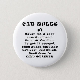 Cat Rules Number 1 Button