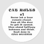 Cat Rules Number 1 Classic Round Sticker
