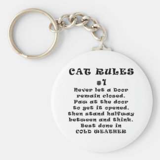 Cat Rules Number 1 Keychain