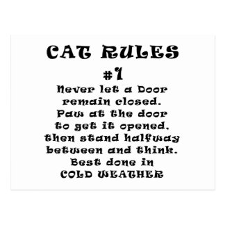 Cat Rules Number 1 Postcards