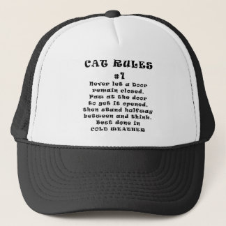 Cat Rules Number 1 Trucker Hat