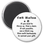 Cat Rules Number 2 Magnet