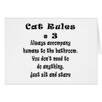 Cat Rules number 3 Card