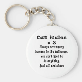 Cat Rules number 3 Keychain