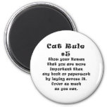 Cat Rules Number 5 2 Inch Round Magnet
