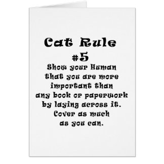 Cat Rules Number 5 Card