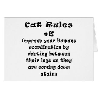 Cat Rules Number 6 Greeting Card
